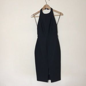 Elizabeth + James Black Halter Midi Buckle